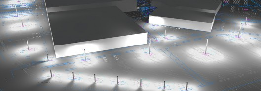 Rendering of a mall using DIALux